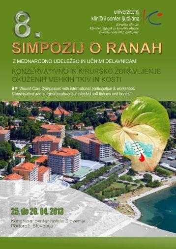 8. simpozij o ranah - Univerzitetni Klinični Center Ljubljana