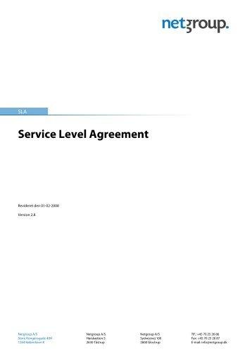 Service Level Agreement - Netgroup