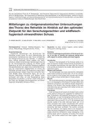 Mitteilungen zu röntgenanatomischen Untersuchungen des Thorax ...