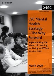 LSC Mental Health Strategy – The Way Forward - Learning and ...