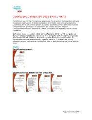 Certificados Calidad ISO 9001 ENAC / UKAS - Carlson Wagonlit ...