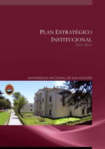 plan estratégico institucional - Universidad Nacional de San Agustin