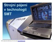 Strojní pájení v technologii SMT - UMEL