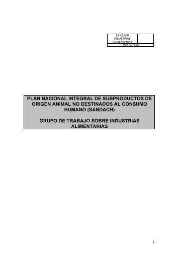 plan nacional integral de subproductos de origen animal - Coag