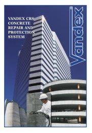Vandex CRS Concrete Repair System - Safeguard Europe Ltd.