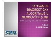 17. Optimální diagnostický algoritmus u nemocných s MM