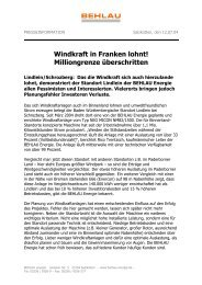 Windkraft in Franken lohnt! Milliongrenze überschritten