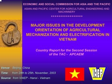 major issues in the development orientation of agricultural ...