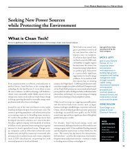 Seeking New Power Sources while Protecting the Environment