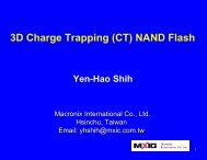 3D Charge Trapping NAND Flash Memory - Sematech