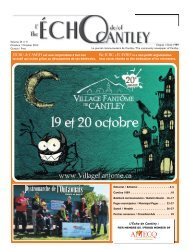 Octobre - Echo of Cantley / Écho de Cantley