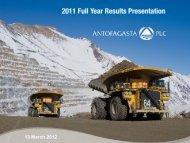 2011 - Antofagasta plc