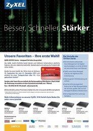 Besser, Schneller, Stärker - Partner - ZyXEL
