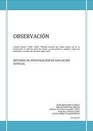 OBSERVACIÓN - Universidad Autónoma de Madrid