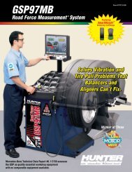 GSP97MB Road Force Measurement System - Hunter Engineering ...