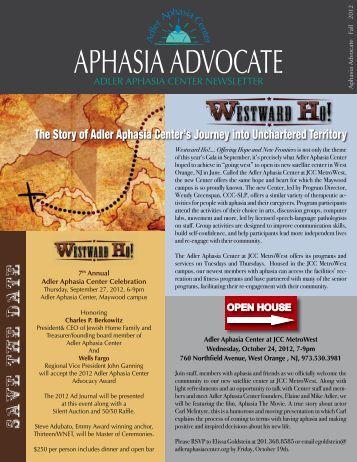 Fall Edition - Adler Aphasia Center