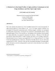 A Method for In Situ Depth Profiles of Alpha and Beta Contaminants ...