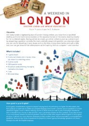 you leave from a specified starting point and travel across London ...