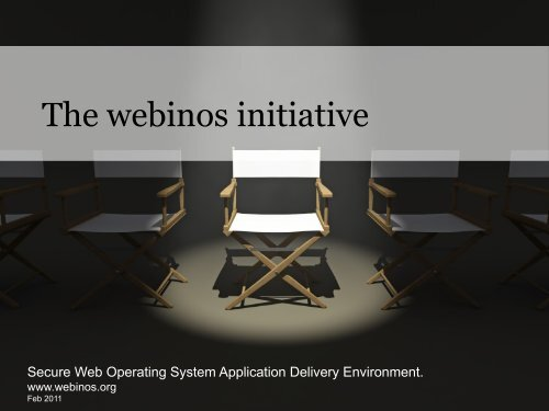 The webinos initiative - W3C Public Mailing List Archives