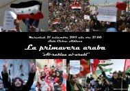 La primavera araba - Comune di Reggio Emilia