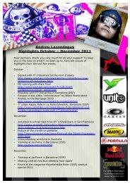 Andreu Lacondeguy Highlights October – December 2011 - Marzocchi