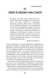 20. Orde te midden van chaos - Theosofische Vereniging in Nederland