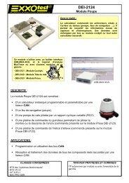 Fiche technique module poupe DEI-2124 - Exxotest