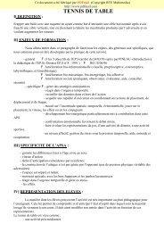 TENNIS DE TABLE - Eduka