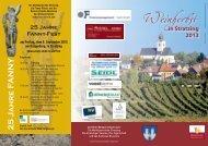 Programm & Details - Marktgemeinde Stratzing