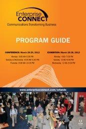 PROGRAM GUIDE - Enterprise Connect