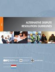 alternative dispute resolution guidelines - World Bank Internet Error ...