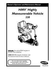 HMV™Highly Maneuverable Vehicle - Invacare