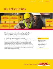 DHL EDI Solutions Brochure