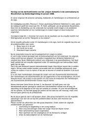 Verslag van de startconferentie van het project ... - Annevillegroep