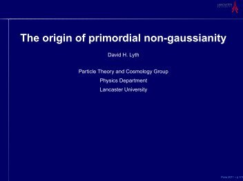 The origin of primordial non-gaussianity - iucaa