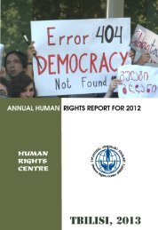 Annual Human Rights Report For 2012 - The Human Rights Centre