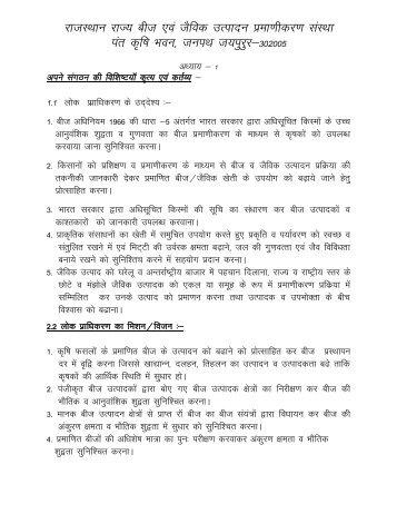 Right to Information - Rajasthan Krishi