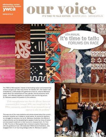 it's time to talk edition winter 2011 minneapolis - YWCA of Minneapolis