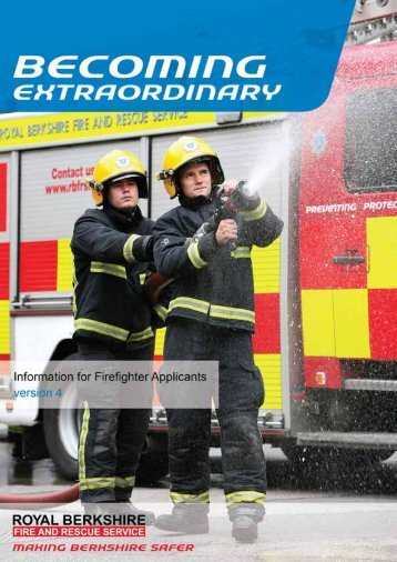 Information for Firefighter Applicants - Royal Berkshire Fire and ...