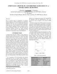 Emittance Growth by Synchrotron Radiation in a Double-Sided ...
