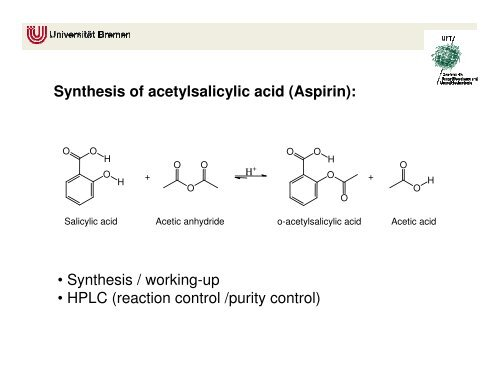 purity of aspirin