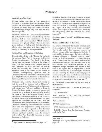 Philemon - Grace Notes