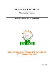 statistiques du commerce exterieur 2 - Niger