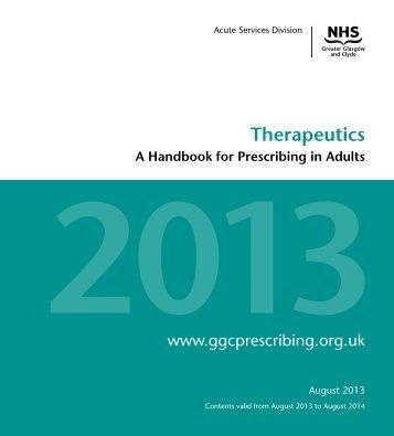 Therapeutic Handbook - GGC Prescribing