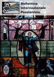 Bollettino Internazionale Passionista - Passio Christi
