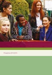 View a prospectus - Greenhead College
