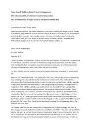 PDF Transcription Imam Suhaib Webb - Radical Middle Way