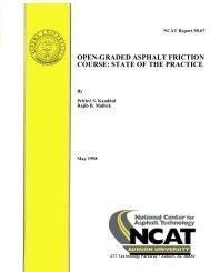 Open Graded Asphalt Friction Course: State of ... - Auburn University