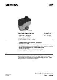 OEM Electric actuators Manual adjuster SSY319 ... - siemensbolt.hu