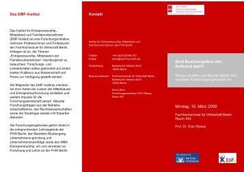 Sind Businesspläne den Aufwand wert? Montag, 16 ... - Emf-berlin.org